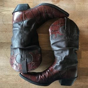 Ariat Leather Cowgirl Boots Slouch Pointed Toe